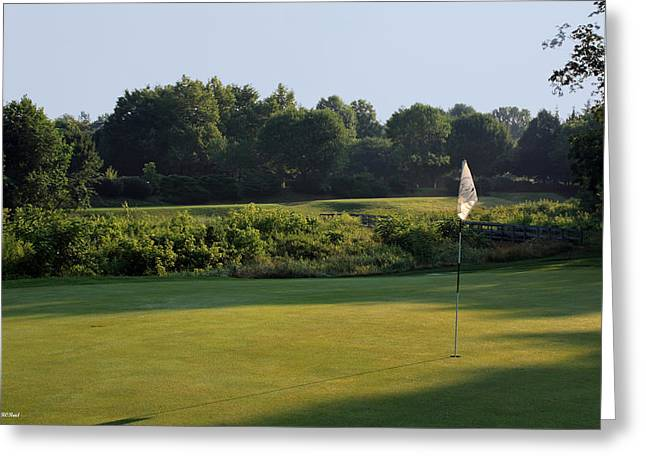 A. Paré Greeting Cards - Fairway Hills - 3rd - A Bridge and Marsh to this Par 3 Greeting Card by Ronald Reid