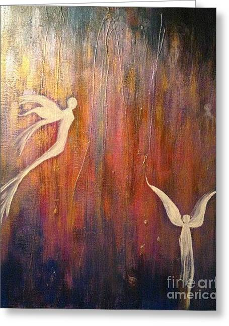 Souls Greeting Cards - Fairy Angel Spirits Greeting Card by Donna Marshall