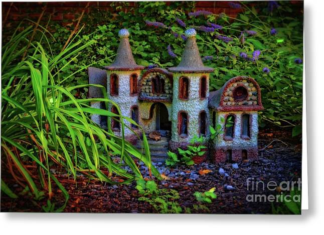 Fairy Castle Greeting Card by Mary Machare