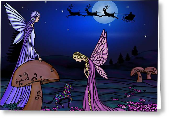 Fairy Christmas Greeting Card by Barbara St Jean