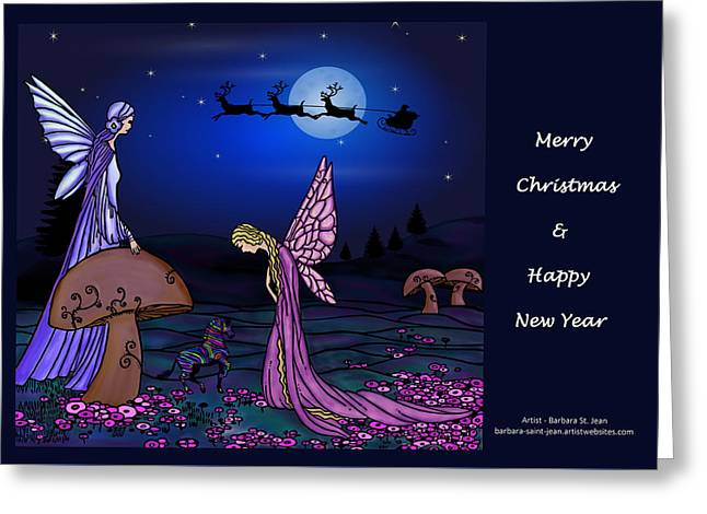 Fairy Christmas Card Greeting Card by Barbara St Jean