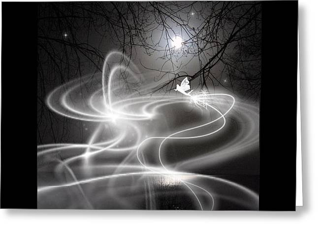 Fog Mixed Media Greeting Cards - Fairy Fog Greeting Card by Maggie  Smith