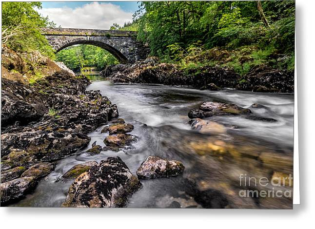 Bridge Greeting Cards - Fairy Glen Bridge Greeting Card by Adrian Evans