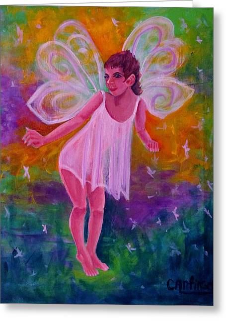Twinkle Greeting Cards - Fairy Glen Greeting Card by Carol Allen Anfinsen