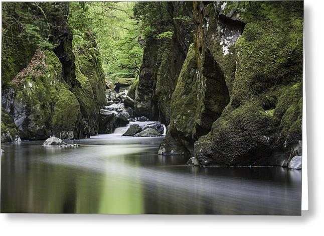 Mystical Landscape Greeting Cards - Fairy Glen Greeting Card by Wendy Chapman