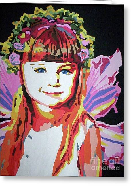 Fairy Lexi Greeting Card by Jennifer Heath Henry