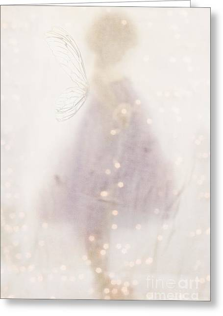 Recently Sold -  - Abstract Digital Greeting Cards - Fairy Lights Greeting Card by Stephanie Frey