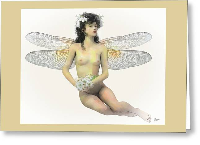 Fairy Luck Greeting Card by Quim Abella