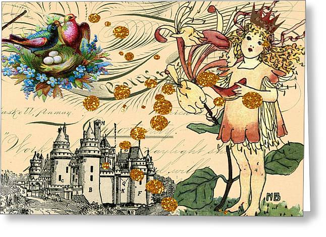 Pricess Greeting Cards - Fairy Princess Greeting Card by Myrna Jackson