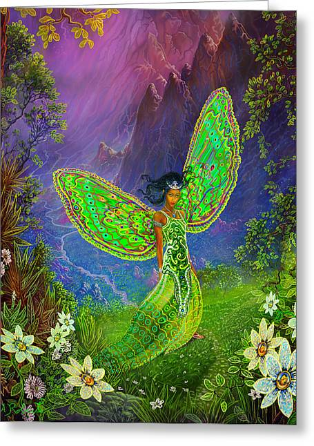 Fairy Princess Greeting Card by Steve Roberts