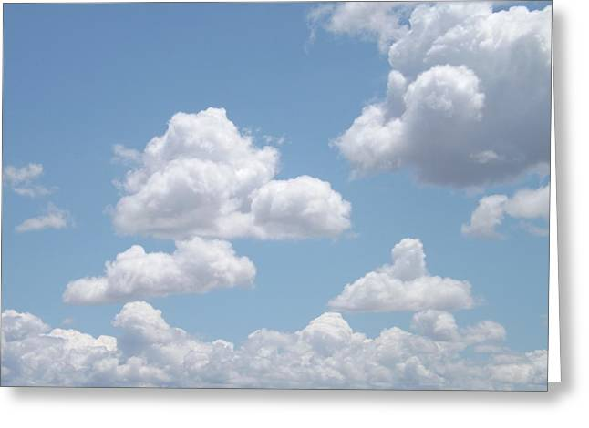 Overcast Day Greeting Cards - Fairy Tale Clouds  Greeting Card by Lorna Hooper