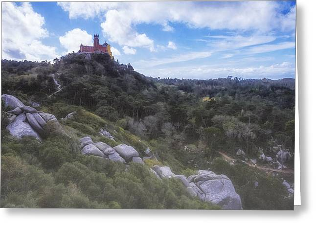 Greeting Cards - Fairy Tale Pena Palace Greeting Card by Joan Carroll