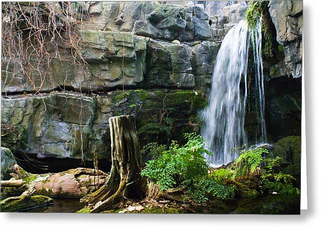Recently Sold -  - Festivities Greeting Cards - Fairy Waterfall Greeting Card by Douglas Barnett