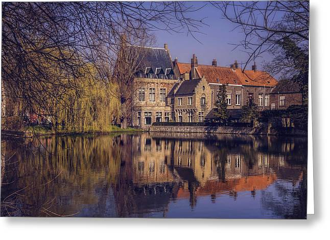 Fairytale Bruges  Greeting Card by Carol Japp
