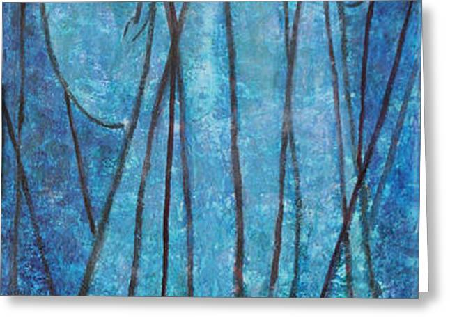 FAITH at the Sea of Reeds Greeting Card by Mordecai Colodner