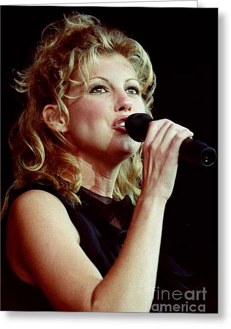 Live Art Greeting Cards - Faith Hill-0734 Greeting Card by Gary Gingrich Galleries