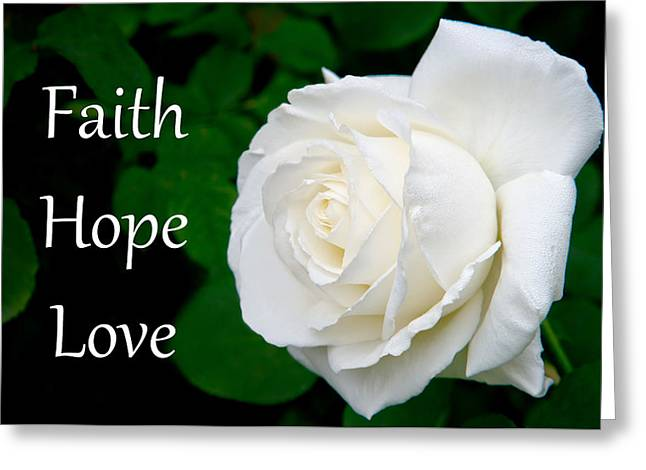 Silicon Valley Art Greeting Cards - Faith Hope Love Greeting Card by Glenn Franco Simmons