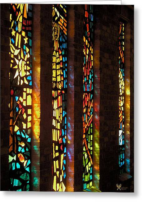 Streaming Light Greeting Cards - Faith in Color Greeting Card by Karen Musick