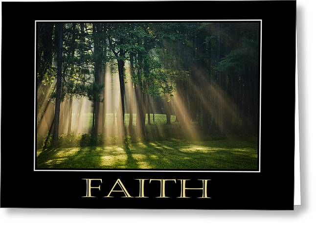 Faith Inspirational Motivational Poster Art Greeting Card by Christina Rollo