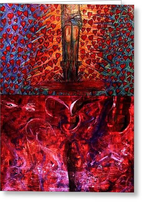 Jesus Mixed Media Greeting Cards - Faith or fall Greeting Card by Richard  Hubal