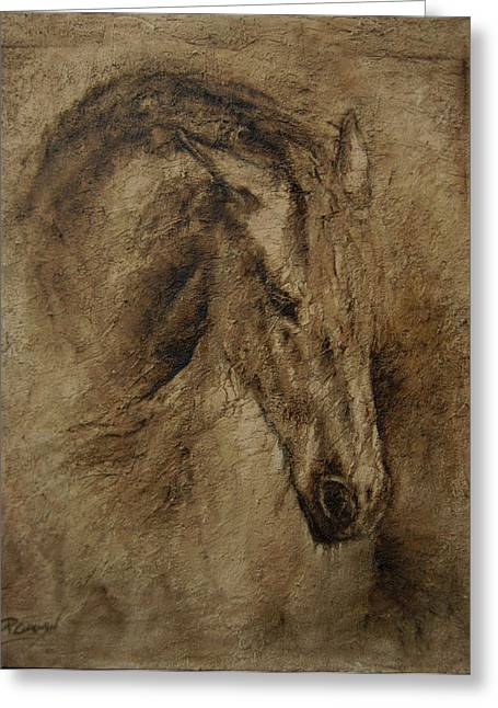 Framed Reliefs Greeting Cards - Faith Greeting Card by Paula Collewijn -  The Art of Horses