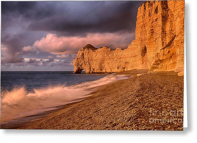 Panoramic Ocean Greeting Cards - Falais dAval Greeting Card by Maurizio Martini