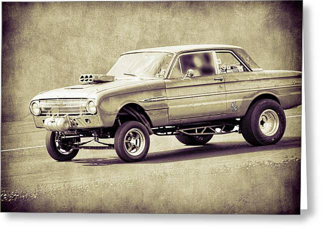 Axle Gear Greeting Cards - Falcon Gasser Greeting Card by Steve McKinzie