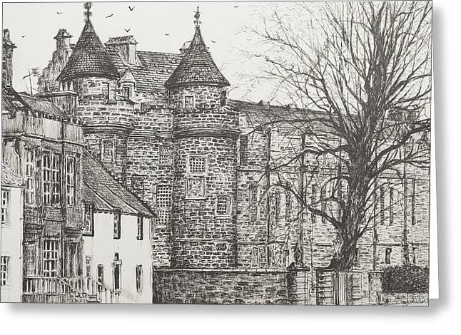 Princes Greeting Cards - Falkland Palace Greeting Card by Vincent Alexander Booth