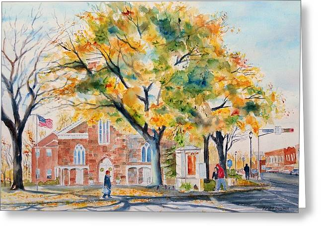 Recently Sold -  - Fall Scenes Greeting Cards - Fall Afternoon Greeting Card by Brian Degnon