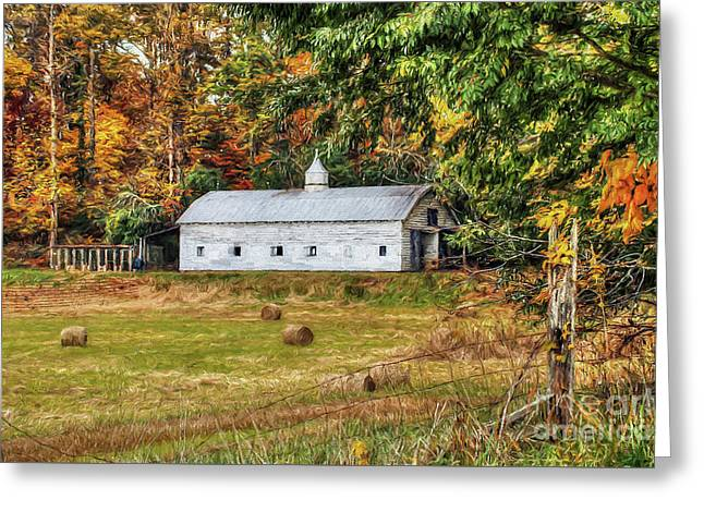 Fall Along 57 Greeting Card by Darren Fisher