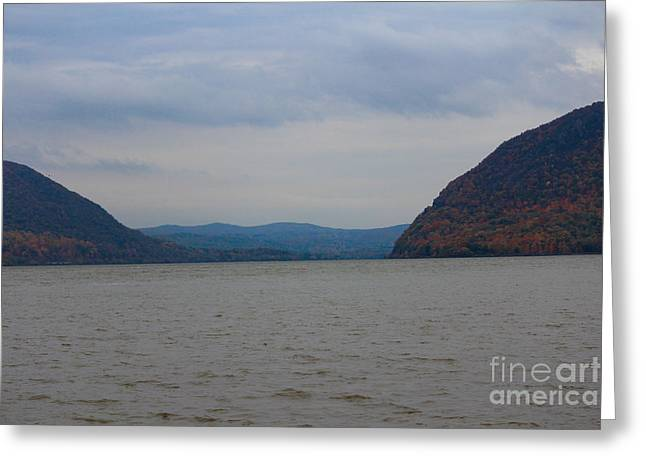 Fall And The Hudson Greeting Card by Victory  Designs