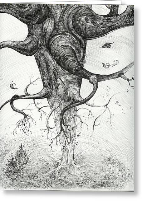 Anna Duyunova Art Greeting Cards - Fall Greeting Card by Anna  Duyunova