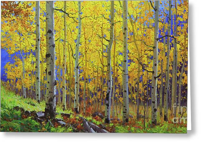 Colorado Mountain Prints Greeting Cards - Fall Aspen Hill  Greeting Card by Gary Kim