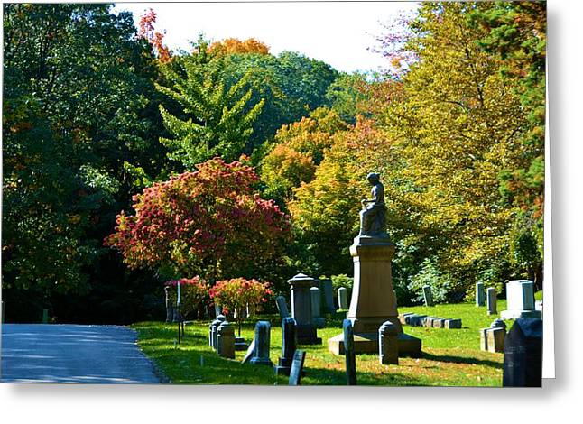 Fall At Mount Hope Cemetery 2 Greeting Card by Richard Jenkins
