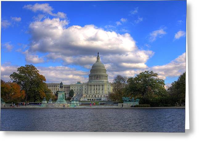 Washingtondc Greeting Cards - Fall at the Capital Building Greeting Card by Brian Governale