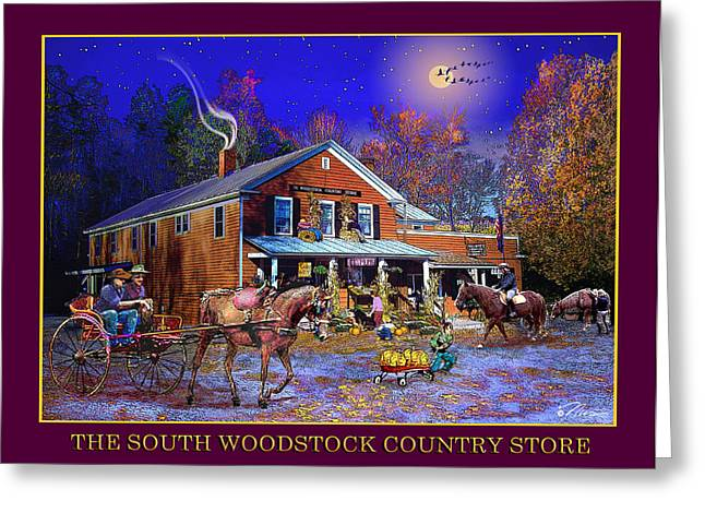 Vermont Country Store Greeting Cards - Fall at the South Woodstock Country Store Greeting Card by Nancy Griswold
