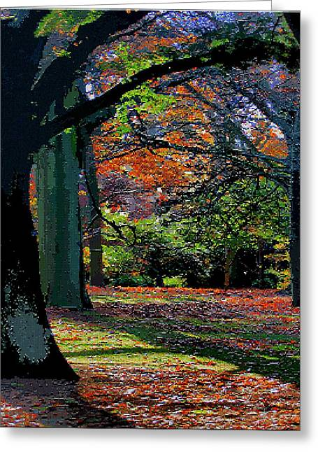 Tetris Block Greeting Cards - Fall Begins Greeting Card by Jacquin