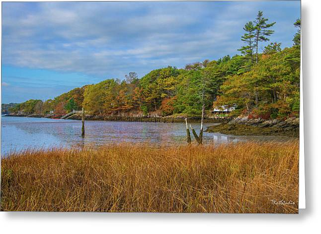 Fall Colors In Edgecomb Too Greeting Card by Tim Kathka