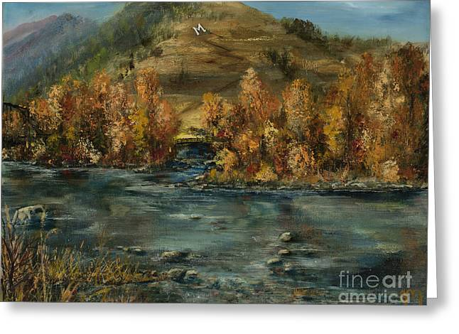Fall Comes To The M Greeting Card by Jodi Monahan