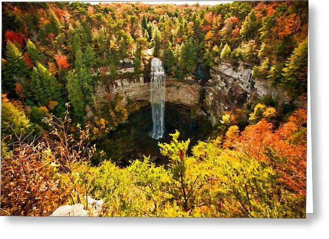 Tennessee River Digital Art Greeting Cards - Fall Creek Falls Greeting Card by Paul Bartoszek