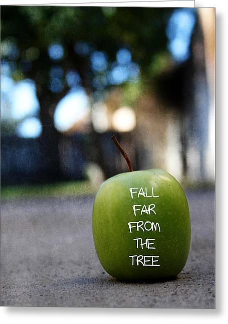 Fall Far From The Tree- Art By Linda Woods Greeting Card by Linda Woods