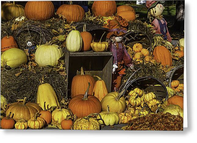 Fall Farm Stand Greeting Card by Garry Gay