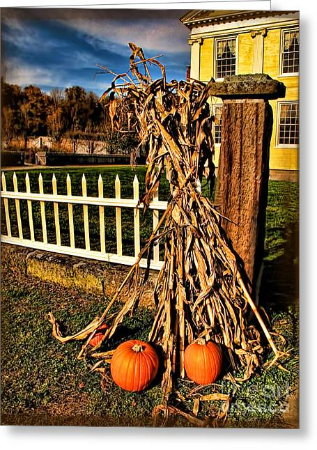 Minchak Greeting Cards - Fall Fence at Hale Farm Greeting Card by Joan  Minchak