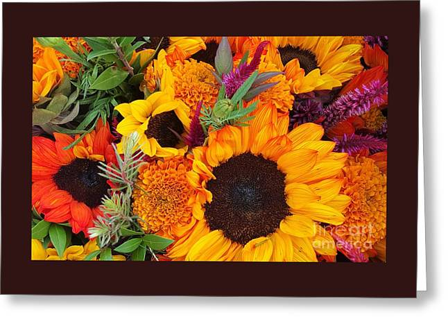 Bloosom Greeting Cards - Fall Flowers Zoom Greeting Card by Jasna Gopic