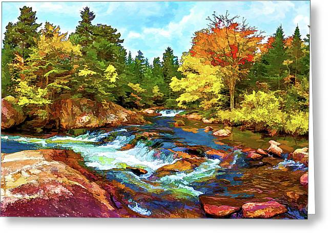 Ledge Greeting Cards - Fall Foliage at Ledge Falls 2 Greeting Card by Bill Caldwell -        ABeautifulSky Photography