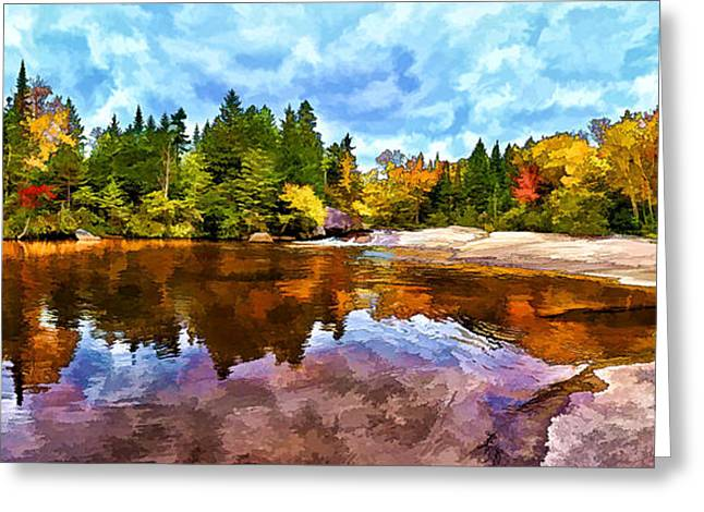 New Greeting Cards - Fall Foliage at Ledge Falls 3 Greeting Card by Bill Caldwell -        ABeautifulSky Photography