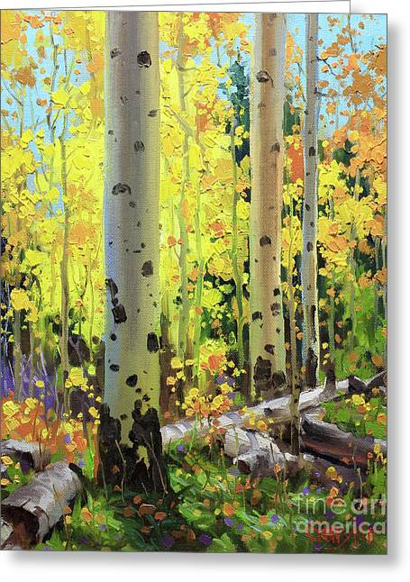 Fall Forest Symphony II Greeting Card by Gary Kim