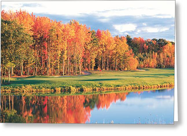 Fall Golf Course New England Usa Greeting Card by Panoramic Images