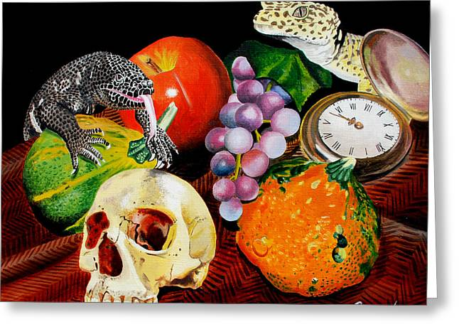 Harvest Time Paintings Greeting Cards - Fall Harvest Greeting Card by Ferrel Cordle