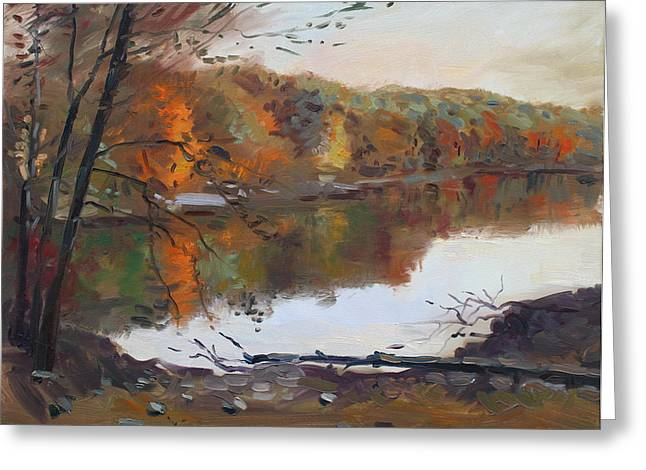 Autumn Landscape Paintings Greeting Cards - Fall in 7 Lakes Greeting Card by Ylli Haruni